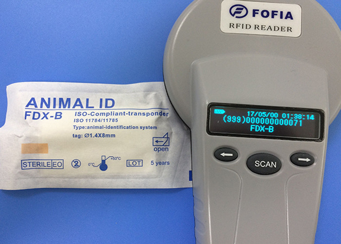 CE 134.2khz Microchip Dog Scanner , RFID Smart Reader With LCD Display