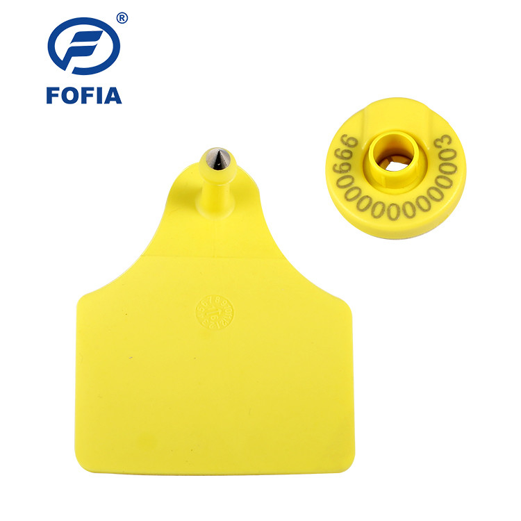125khz ISO11784/5 FDX - B Rfid Animal Ear Tag For Cattle Sheep Management